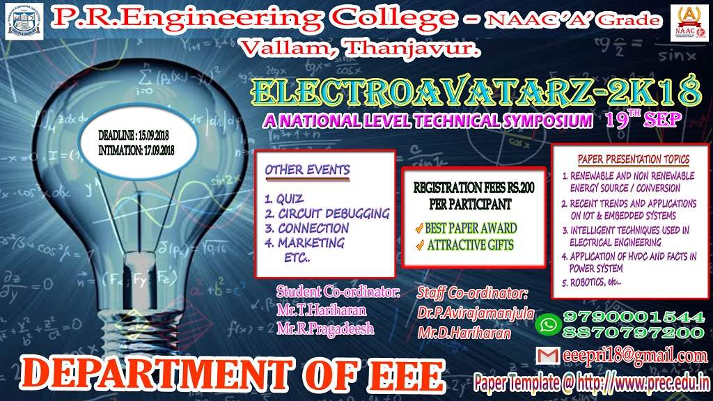 department of eee conduct national level technical symposium on 19th september download paper template